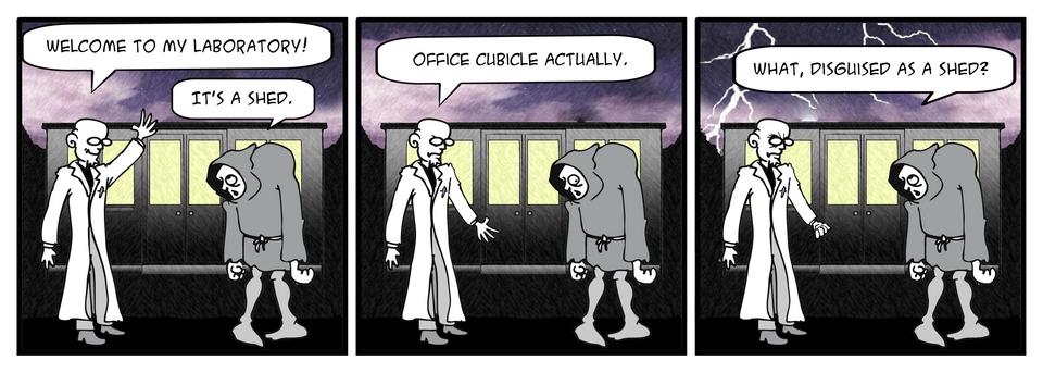 Headquarters of the evil-genius …