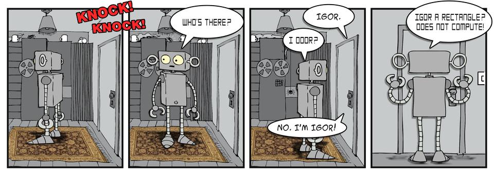 Knock Knock Joke Robogeek Style